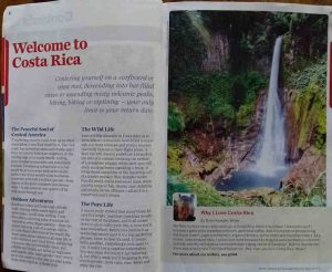 Lonely planet at Catarata Del Toro