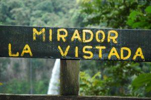waterfall sign catarata del toro