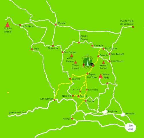 Catarata Del Toro - Map